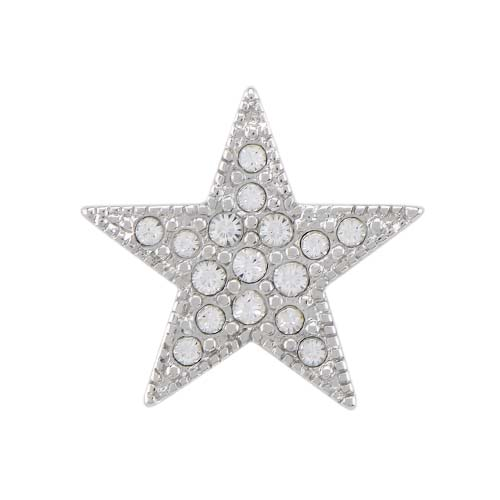 BS1022 Silver Pave Star Slider with Swarovski Crystals copy